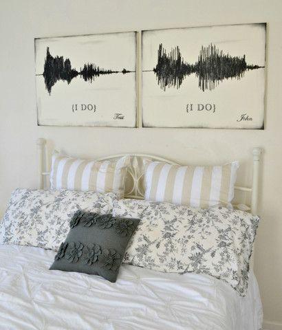 "Sound Wave ""I Do"" Canvas Art Set {customizable} - Aimee Weaver Designs"