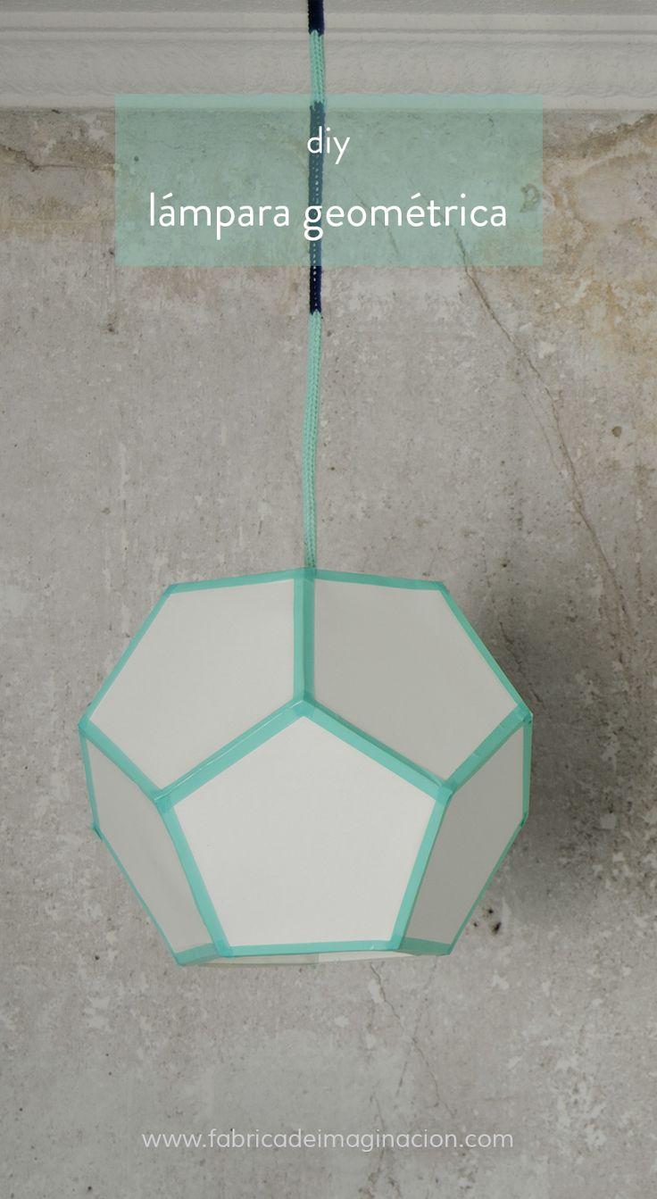 DIY Fábrica de imaginación | DIY Lámpara de techo geométrica | http://www.fabricadeimaginacion.com