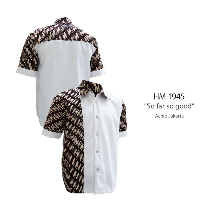 """So far so good"" #kemejabatikmedogh  http://medogh.com/baju-batik-pria/kemeja-batik-pria/Kemeja-Batik-Patriot-Series-Kemeja-Noah-HM-1945"