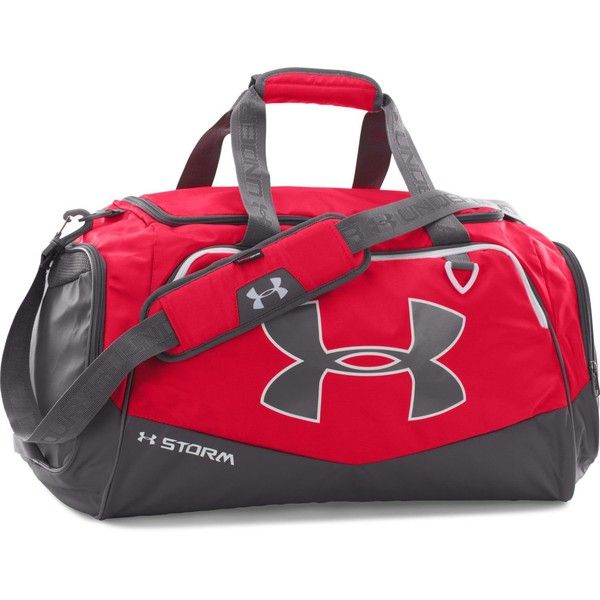Under Armour Undeniable Synthetic Holdall ($45) ❤ liked on Polyvore featuring men's fashion, men's bags, bags & luggage mens bags, mens duffel bags, mens bag, mens holdall bag, mens duffle bags and mens sports bag