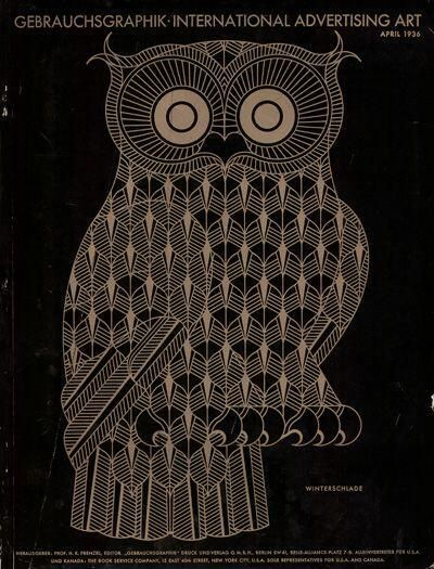 """ヘルベルト・バイヤー 『雑誌""""Gebrauchsgraphik""""表紙イラスト』 (1936) Herbert Bayer - magazine """"Gebrauchsgraphik"""""""