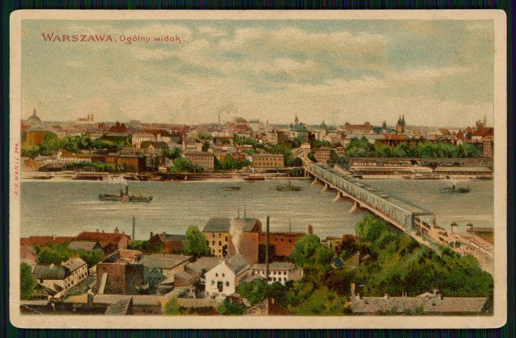 Pocztówka: Warszawa, Ogólny widok (ante 1906)