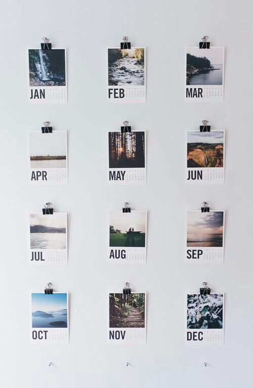 This image gave me an idea: after the end of each month, attaching a photo taken during the month