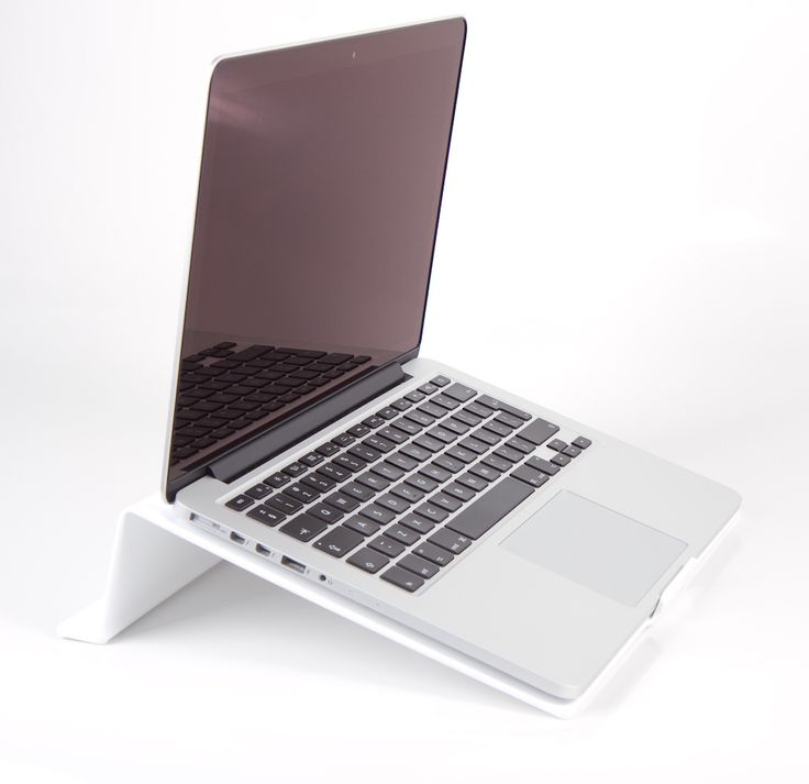 LapStop: White   iStop Shop Ergonomic Support for your laptop, helps elevate back, neck & wrist strain by placing your computer at the correct height #desks #computers #technology #design #homespace #workspace #work #home #bed #relax #health #fitness #ergonomics #electronic #devices #geekery #trends #apple #workspace #chairs #productdesigns #engineering