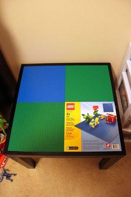 Ikea Side Table Turned Lego Creation Center.