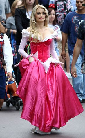 sleepy beauty adult costume etsy | ... Holly Madison Wears Sleeping Beauty Costume at Disneyland | E! Online