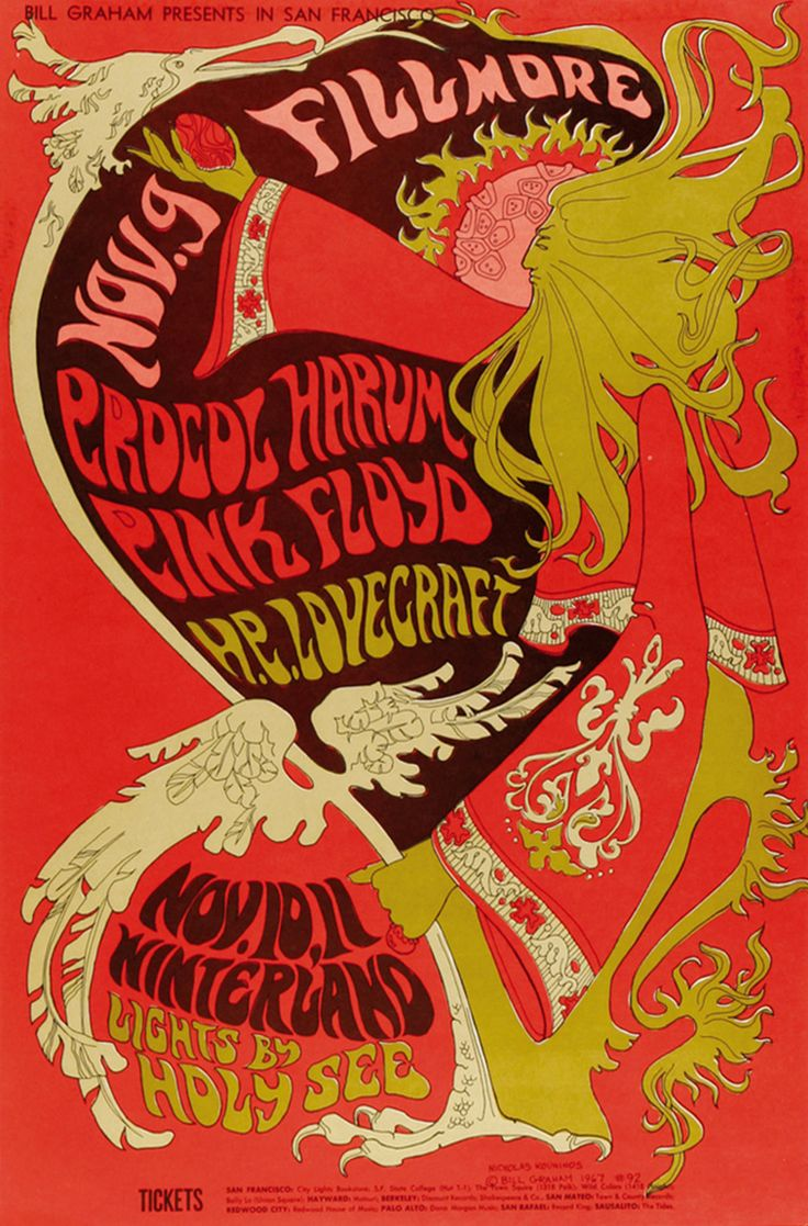 BILL GRAHAM CONCERT POSTER from the 60's. Graham made the Fillmore Auditorium, Winterland and His Family Dog concert halls famous. They were proving grounds for rock bands of the S.F. Bay Area like the Grateful Dead, Jefferson Airplane, Janis Joplin,  Santana, Frank Zappa, Steve Miller, the Mamas and the Papas, Crosby, Stills, Nash and Young, Deep Purple, Taj Mahal and many more.  - From Amazing Singles - the Hottest Singles Resource on the Web… visit www.amazingsingles.com