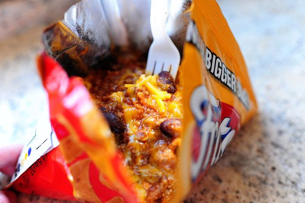 Frito Pies for football games!