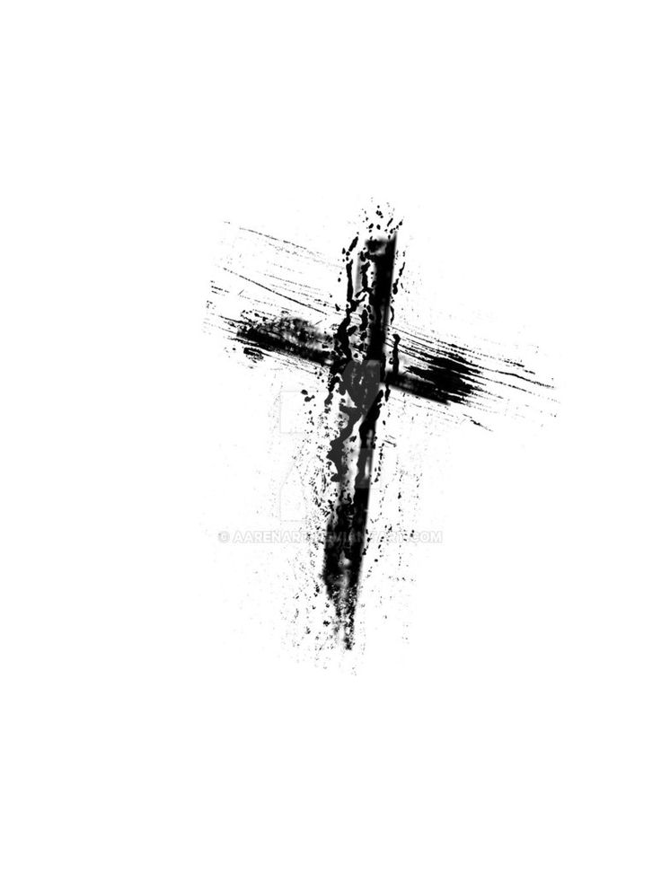 Grunge cross tattoo by aarenart