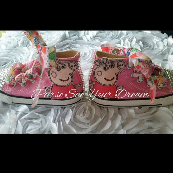 Peppa Pig Themed Converse Shoes Pegga Pig by PurseSueYourDream