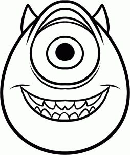 How to Draw Mike Wazowski Easy, Step by Step, Disney Characters, Cartoons, Draw Cartoon Characters, FREE Online Drawing Tutorial, Added by Dawn, May 12, 2013, 4:40:12 am