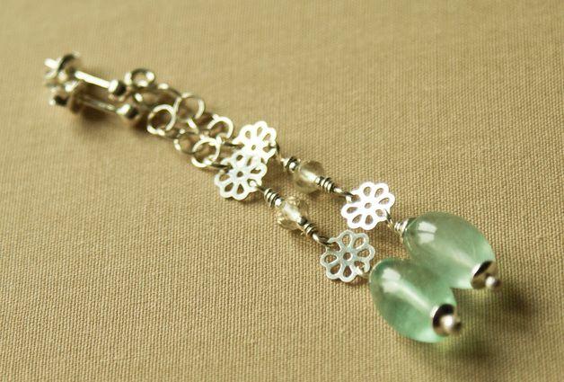 Chandelier Earrings – Fluorite sterling silver earings – a unique product by Tilia_ on DaWanda