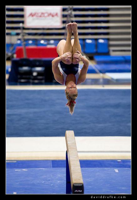 gymnastics gymnast on balance beam moved from main gymnastics board