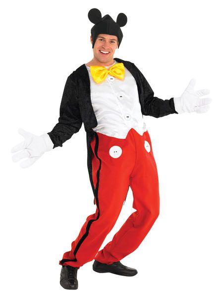 Naamiaisasu; Mikki Hiiri  Lisensoitu Walt Disney Mikki Hiiri asu standardikokoisena. Mikki Hiiri on Walt Disneyn ja Ub Iwerksin luomista piirroshahmoista kuuluisin. Hän on hiiri jolla on kaksi suurta pyöreää korvaa, siimahäntä ja punaiset pöksyt. #naamiaismaailma