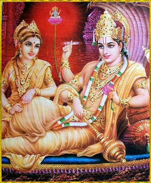 I pray to the Lord Vishnu. He who holds the universe in his hands. He whose vision exceeds beyond all the skies.   He whose color and visage is changeable like the clouds.   And he who is filled with goodness in every part of his body.  [ Shanta Karam Mantra ]