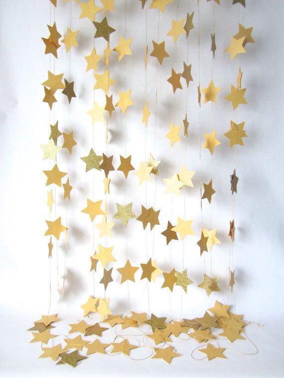 Star garland backdrop
