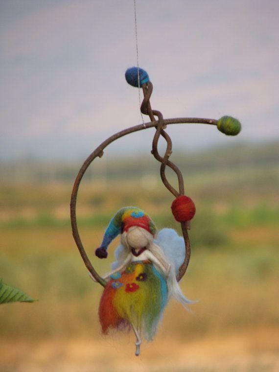 walldorf inspired needle felted rainbow fairy by Made4uByMagic ♡