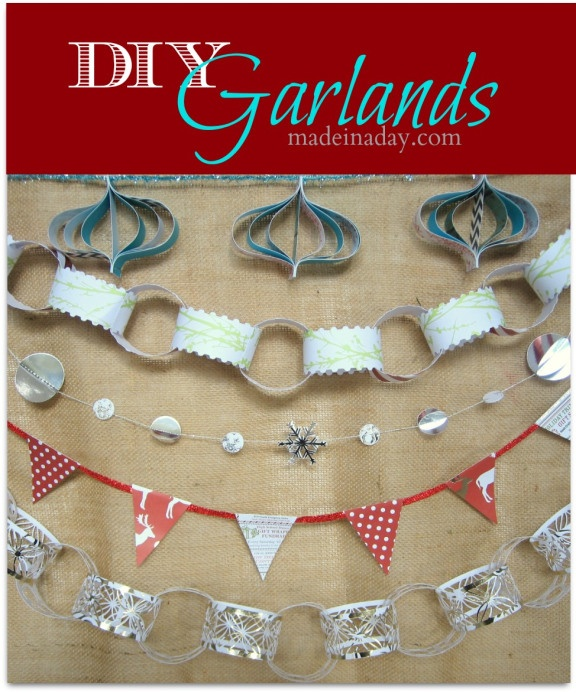 These garlands are the glammed up version of the paper garlands that we made as kids.