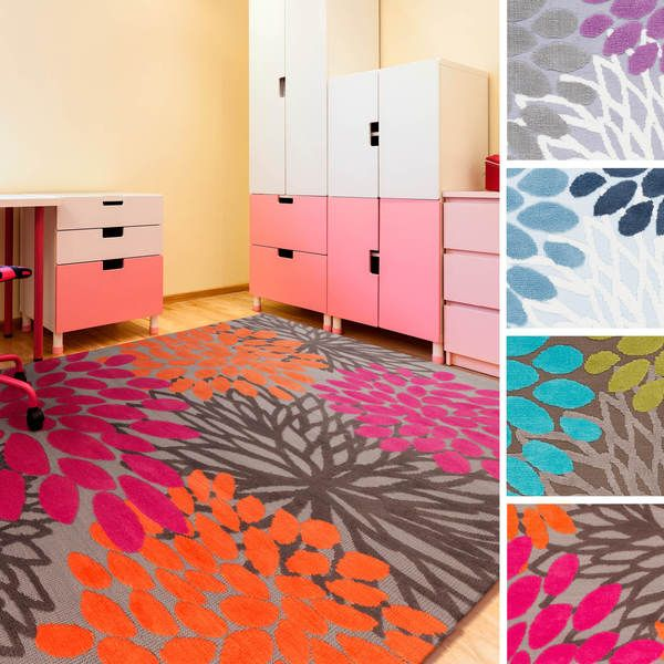 Add A Playful Accessory To Child S Bedroom With This Polyester Azalea Fl Area Rug Featuring Bright Colors And Fun Design Comfortable Is
