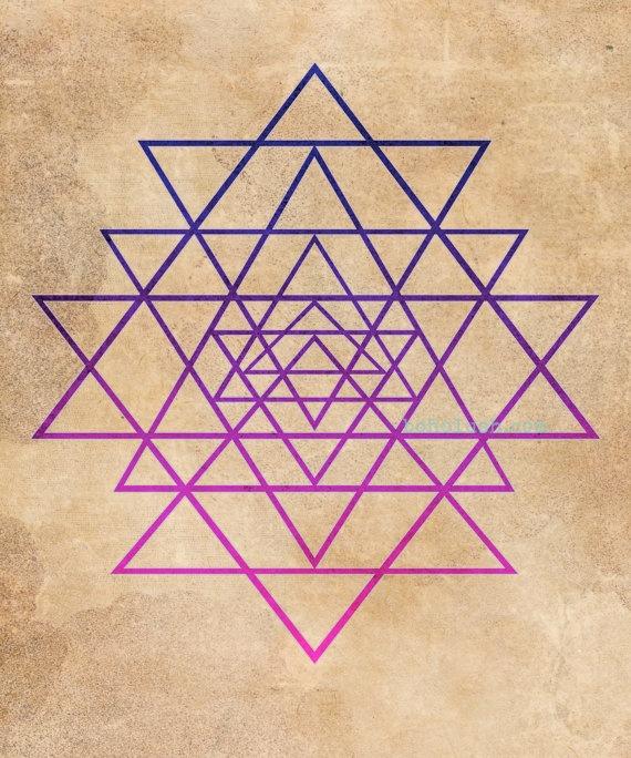 Indigo Bohemian Chic Sacred Geometry Giclee Print by bohoLUSH, $49.00