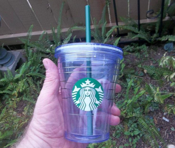 Starbucks Hard Plastic 12 oz Travel Cup  #Starbucks