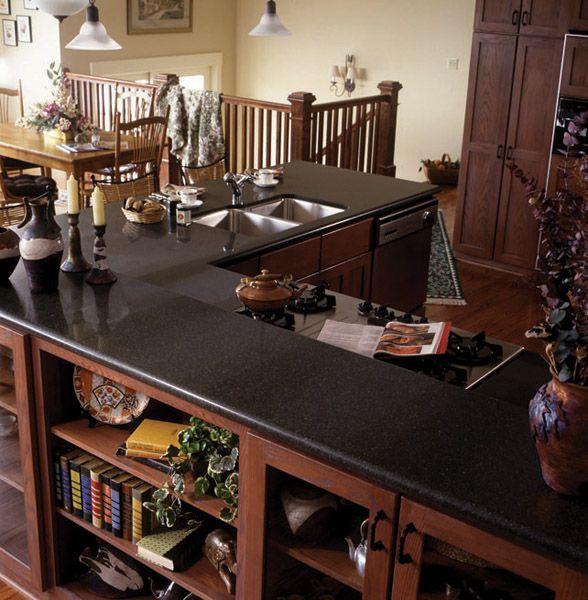 ... black granite countertops, black kitchen countertops, black laminate
