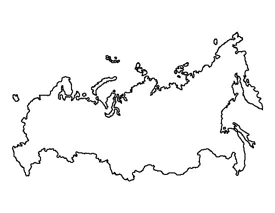 Black And White Map Russia And Europe