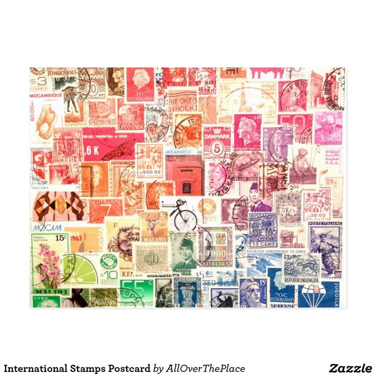 Internationale Briefmarken-Postkarte