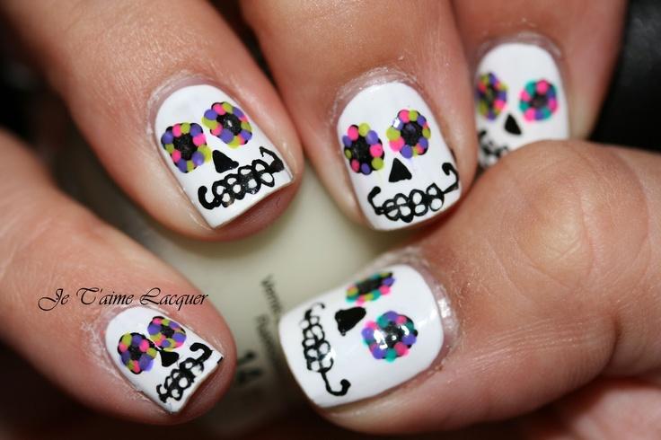 Technicolor Nails: Calavera!!