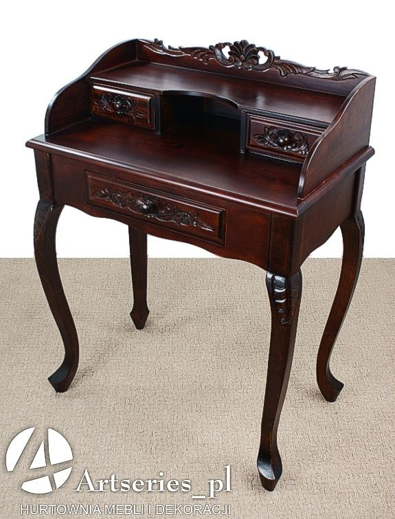 Stylowe Biurka - Sekretarzyk - Meble Rzeźbione