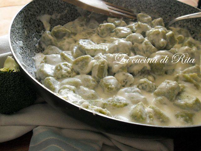 Gnocchi di broccoli alla crema di formaggio
