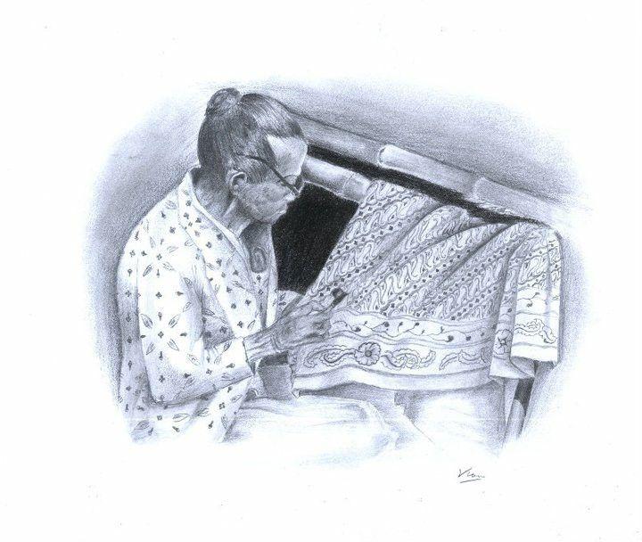 Batik process Pencil on paper #batik #artwork #art #skechbook #budaya #indah #indonesian