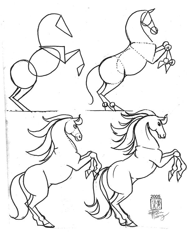 Draw A Horse Step By Step Drawing Animal How To Horse