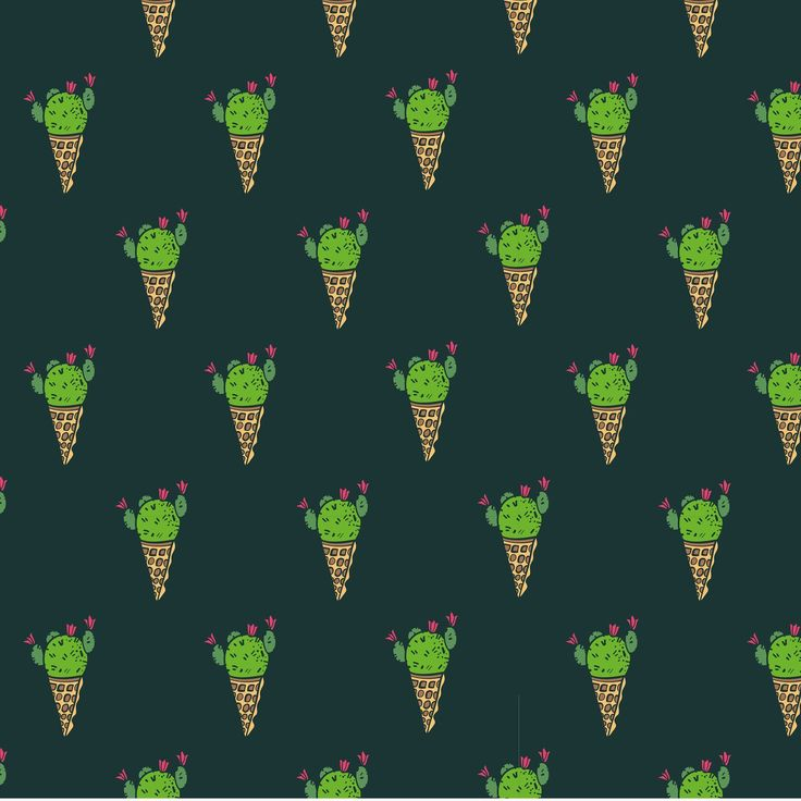 Cactus ice-cream. Because I'm going to work on a new patterns collection.