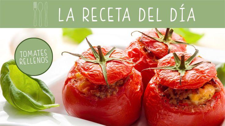 ¿Buscas una #receta completa, original y deliciosa? No te pierdas esta de tomates rellenos.