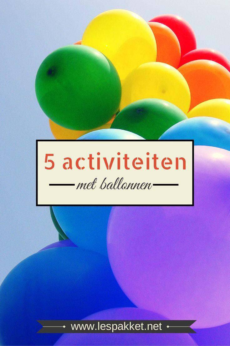 Themaweek: jarig zijn - 5 activiteiten met ballonnen - jufBianca.nl