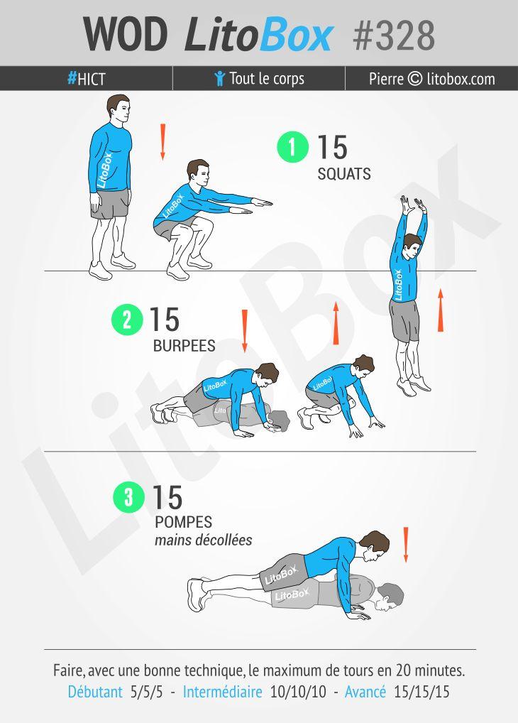 20 minutes d'exercices sans matériel #328 | Exercice, Exercices de fitness et Exercice hiit