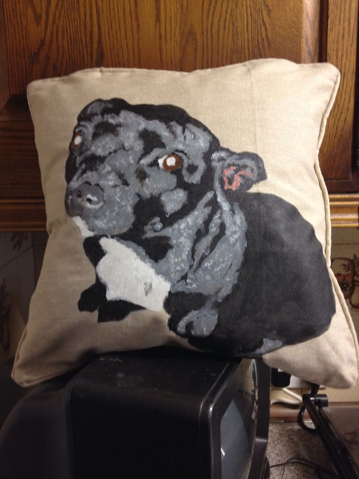 A customers cushion hand painted on a cushion £20 which includes postage