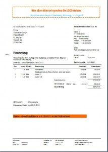 Rechnungsprogramm, Rechnungssoftware, Faktura, Fakturierung,  Rechnungsmuster, Rechnungsvorlage, Musterrechnung