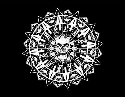 """Check out new work on my @Behance portfolio: """"Skull Mandala"""" http://be.net/gallery/52602587/Skull-Mandala"""