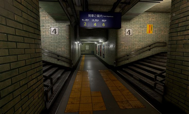 ArtStation - Subway Corridor, Nick Thompson