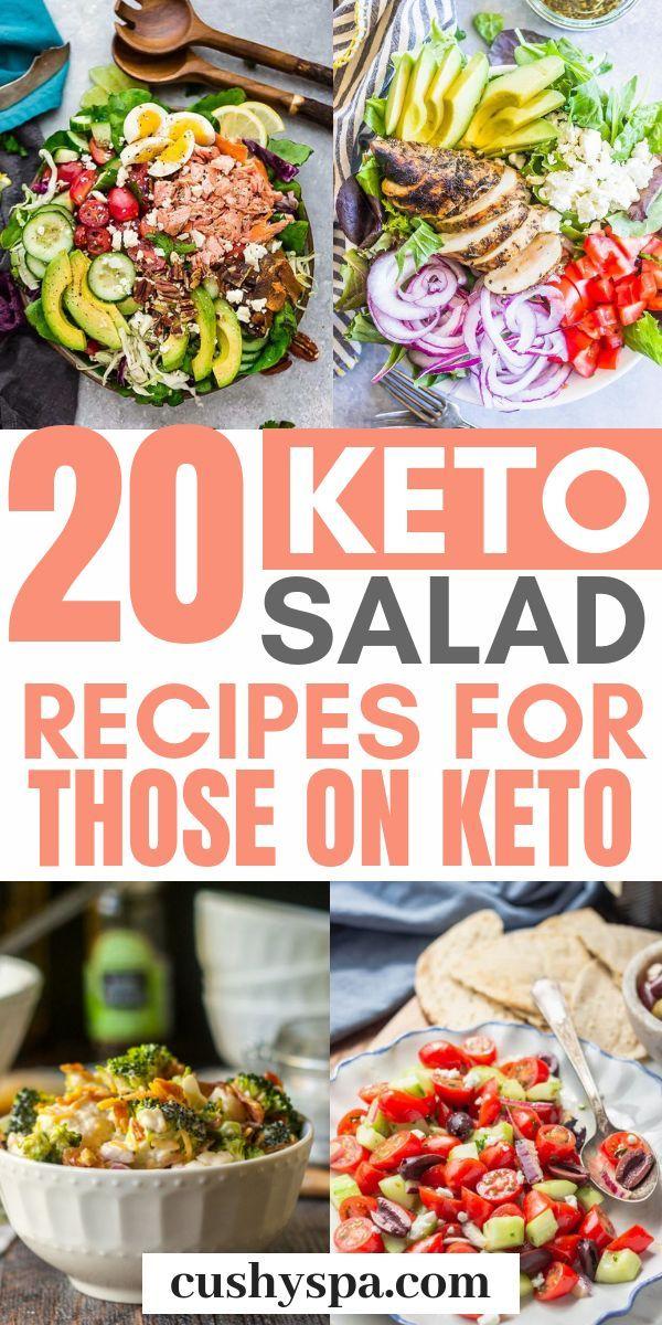 20 Keto-Salat-Rezepte für die auf Keto – #auf #di…