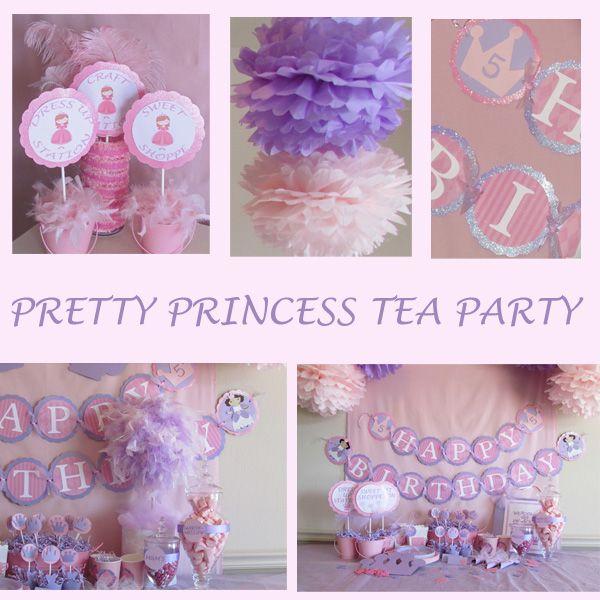 Princess Tea Party Craft Ideas   Glitter Girlz Parties: Pretty Princess Tea Party