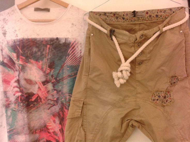 #brassmonkeyj pantalone tasconato e #t-shirt www.brassmonkeyj.com