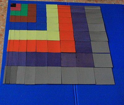 tavola del decanomio o tavola di Pitagora (Montessori) - Matematica, dai 3-4 anni