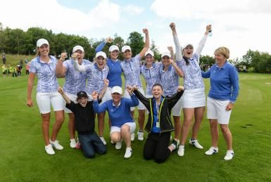 Great Britain & Ireland Laid Down the Law to USA at 2016 Curtis Cup: Team Great Britain and Ireland celebrates victory at the 2016 Curtis Cup.