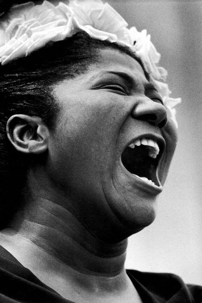 Mahalia Jackson... the queen of gospel music, raw amazing power in sound.