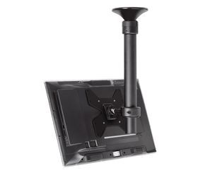 Ceiling mounted tv bracket that swivels, tilts, telescopes and has a sloped ceiling bracket available.  Telehook-TH-1040-CTL | Ceiling Mount | Atdec 360 degree rotating ceiling mount