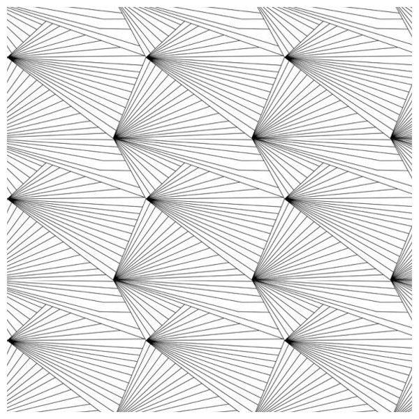 Papier peint géométrique blanc FAN BLACK WHITE - Erica Wakerly - Au fil des Couleurs