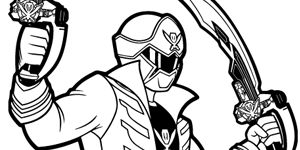 Red power ranger red free engine image for user manual for Power ranger megaforce coloring pages